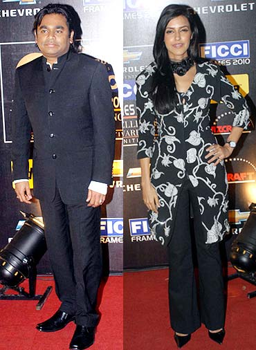 A R Rahman, Neha Dhupia