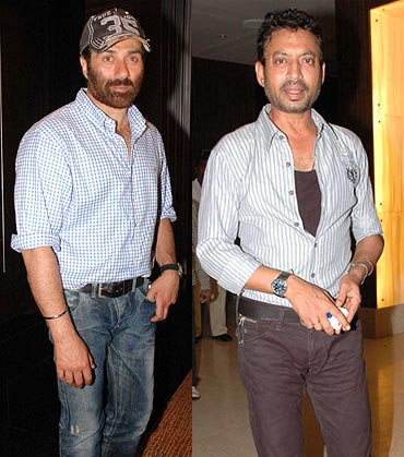 Sunny Deol and Irrfan Khan