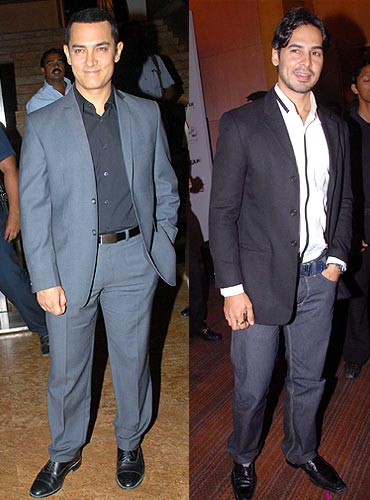 Aamir Khan and Dino Morea