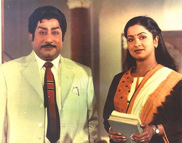 Shivaji Ganeshan and Radhika in Nermai