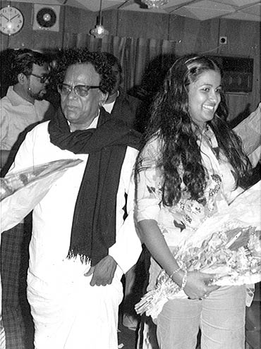 Radhika with her father M R Radha