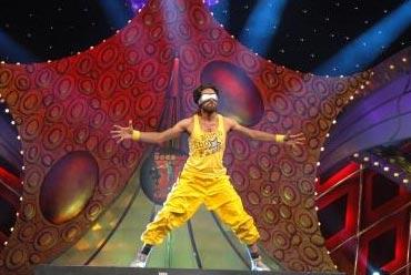 A dancer performs