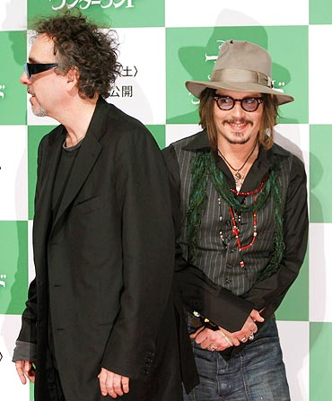 Johnny Depp and director Tim Burton