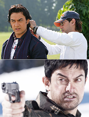 Aamir Khan and Ryan D'Rozario; A scene from Fanaa