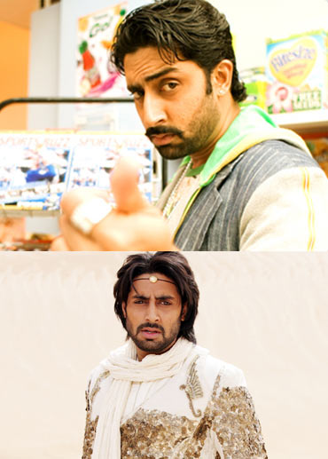 Abhishek Bachchan in Jhoom Barabar Jhoom and Drona
