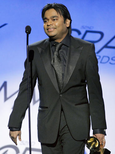 A R Rahman at the 2010 Grammy Awards