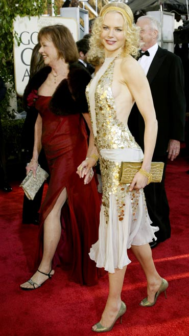 Nicole Kidman with her mother Janelle Ann