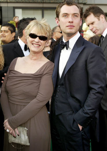 Jude Law with his mother Margaret