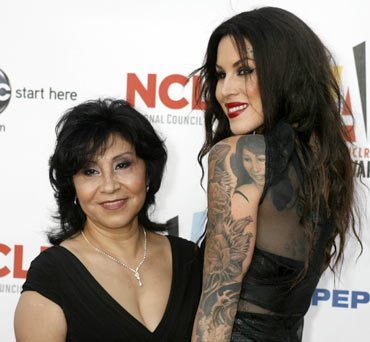 Kat Von D with her mother Sylvia