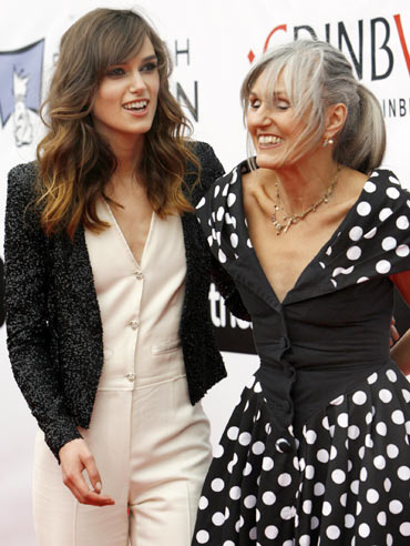 Kiera Knightley with her mother Sharman Macdonald