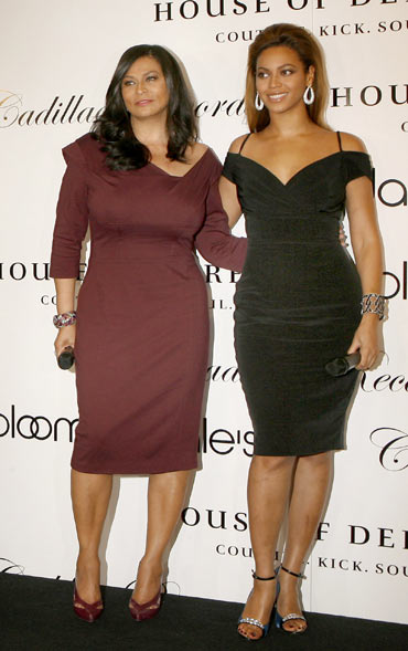 Beyonce Knowles with her mother Tina