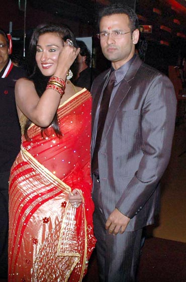Rituparna Sengupta and Rohit Roy