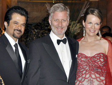Anil Kapoor, Belgium's Prince Philippe and Princess Mathilde