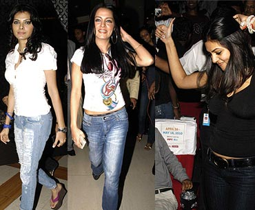 Sherlyn Chopra, Celina Jaitely and Sushmita Sen