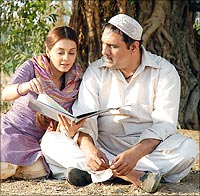 Minishha Lamba and Boman Irani in Well Done Abba