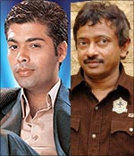 Karan Johar and Ram Gopal Varma