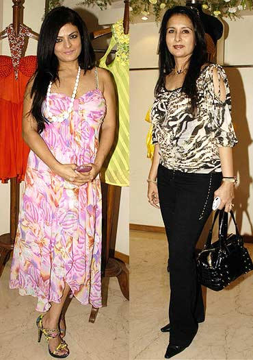 Poonam Dhillon and Sheeba