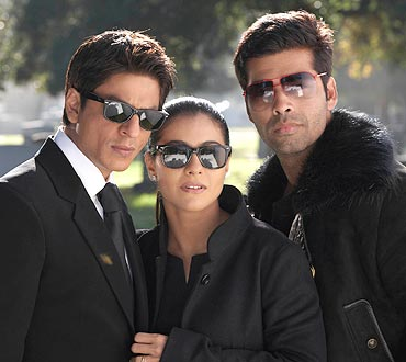 Shah Rukh Khan, Kajol and Karan Johar