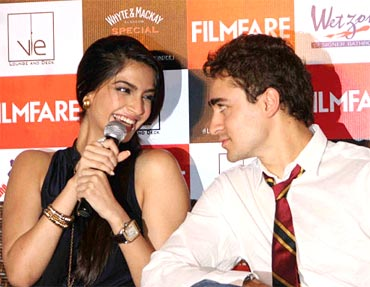 Sonam Kapoor and Imran Khan