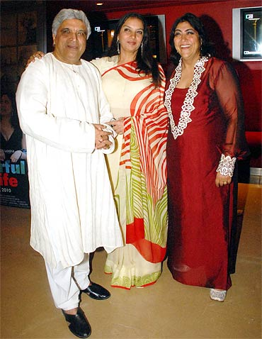 Javed Akhtar, Shabana Azmi and Gurinder Chadda