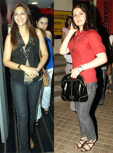 Sonali Bendre and Zarine Khan