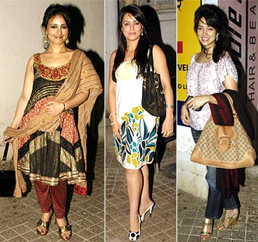 Divya Dutta, Mahima Chaudhry and Vidya Malvade