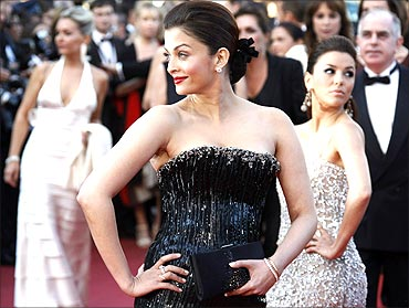Eva Longoria and Aishwarya Rai