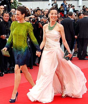 Evangeline Lily and Michelle Yeoh