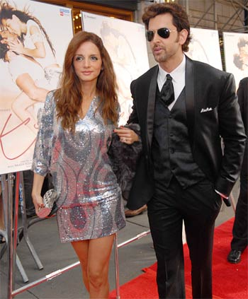 Suzanne and Hrithik Roshan