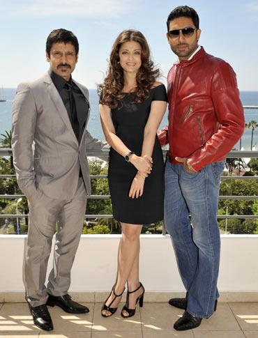 Vikram, Aishwarya Rai and Abhishek Bachchan