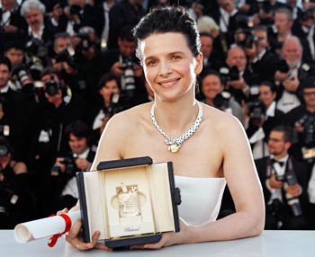Juliette Binoche poses during a photocall