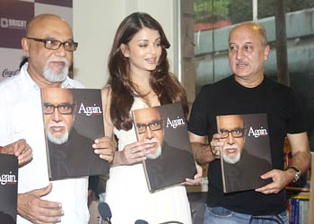 Pritish Nandy, Aishwarya Rai Bachchan and Anupam Kher