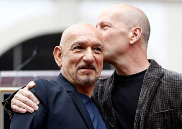 Sir Ben Kingsley and Bruce Willis
