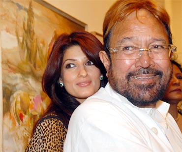 Twinkle and Rajesh Khanna