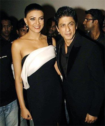 Sushmita Sen and Shah Rukh Khan