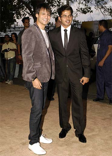Vivek Oberoi and Sreesanth