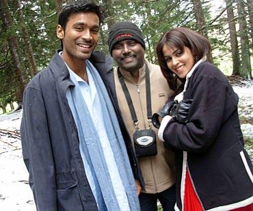 Dhanush, Mitran R Jawahar and Genelia D Souza
