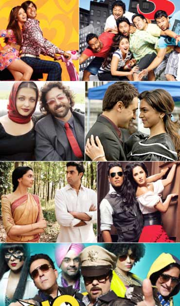 Scenes from Action Replayy, Golmaal 3, Guzaarish, Break Ke Baad, Khelein Hum Jee Jaan Sey, Tees Maar Khan and No Problem