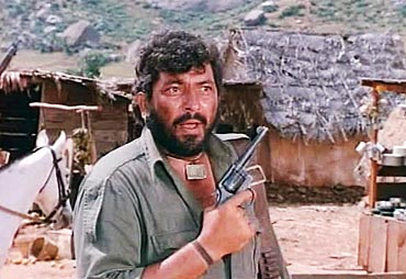 A scene from Sholay