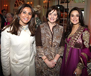 Preity Zinta, Cherie Blair and Meera Gandhi