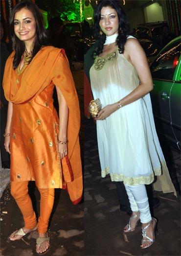 Dia Mirza and Aditi Gowitrikar