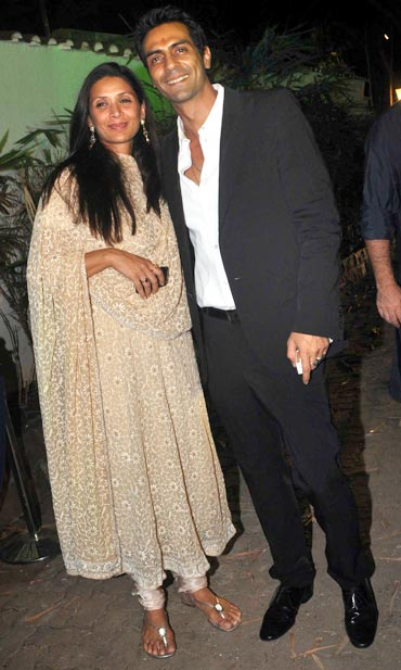 Mehr Jessia and Arjun Rampal
