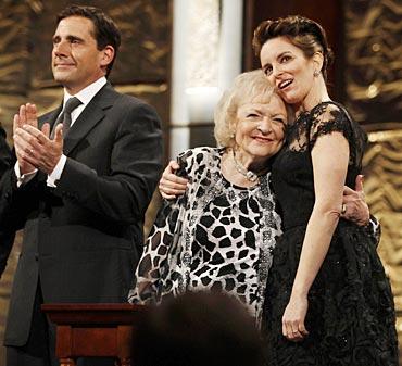 Steve Carell, Betty White and Tina Fey