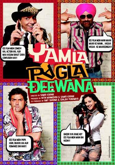 A poster of Yamla Pagla Deewana