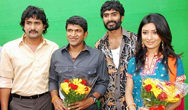 Kitty, Puneet, Yogish and Radhika Pandit