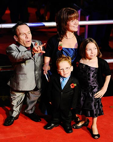 Warwick Davis and family