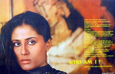 A portrait of Smita Patil at the festival's photo exhibition