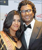 Ekta Kapoor and Sendhil Ramamurthy