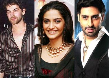 Neil Nitin Mukesh, Sonam Kapoor and Abhishek Bachchan