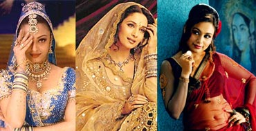 Collage of Aishwarya Rai Bachchan, Madhuri Dixit and Rani Mukherjee